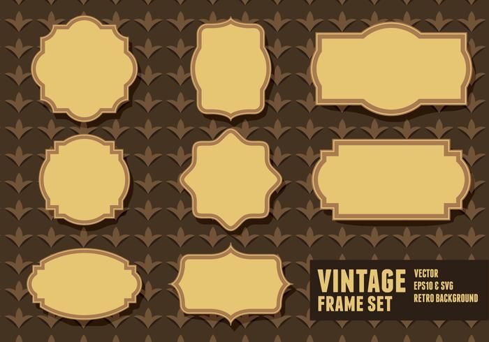 Conjuntos de frame vintage vetor