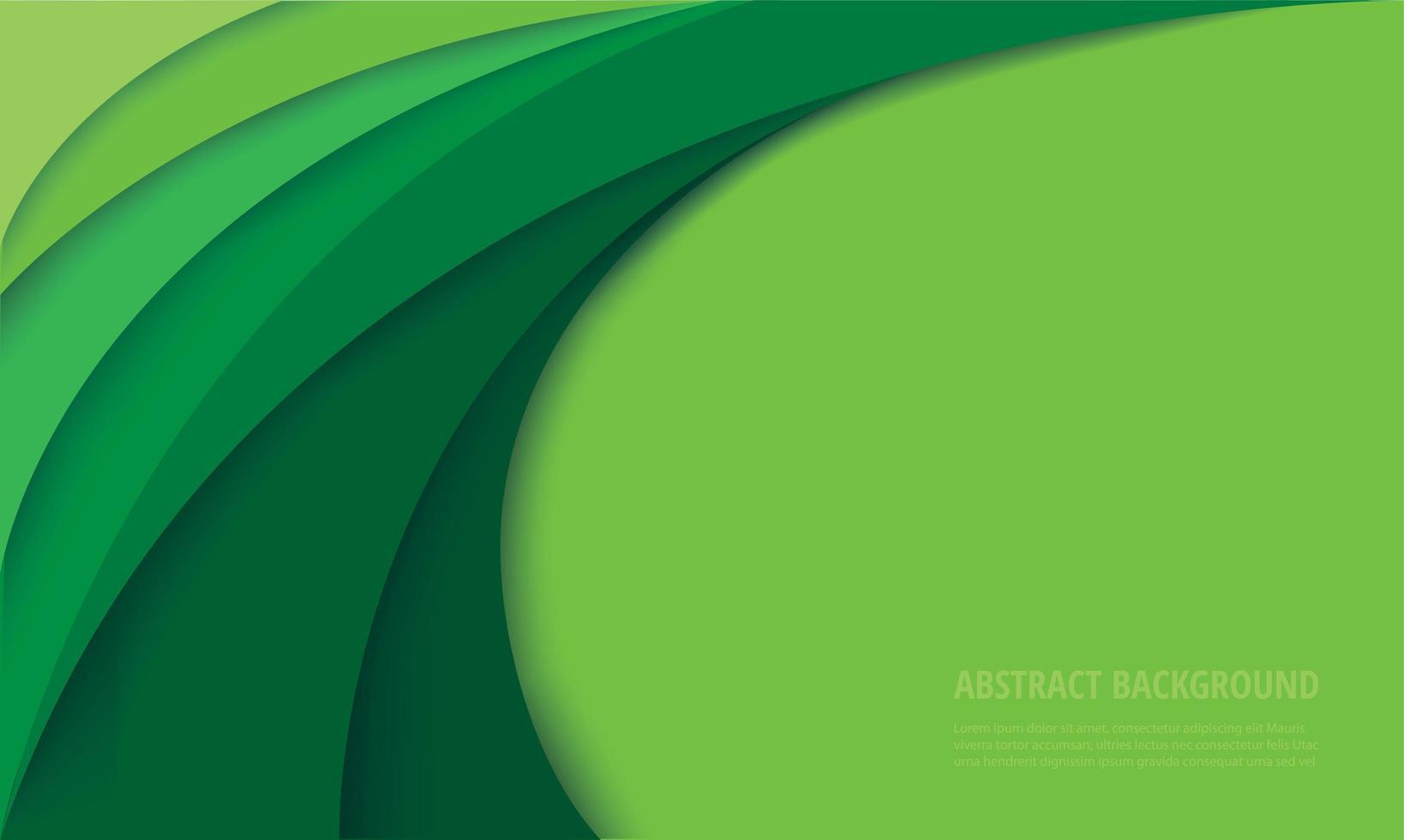 fundo de curva verde moderno vetor