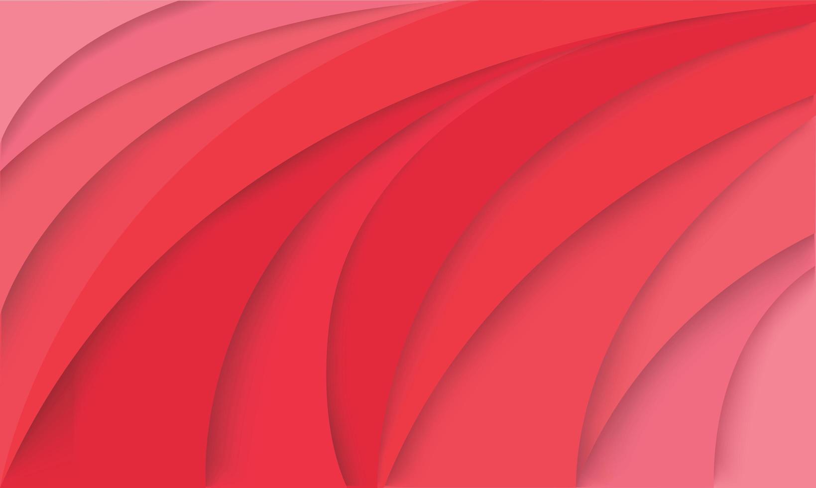 fundo de papel rosa curva 3d vetor