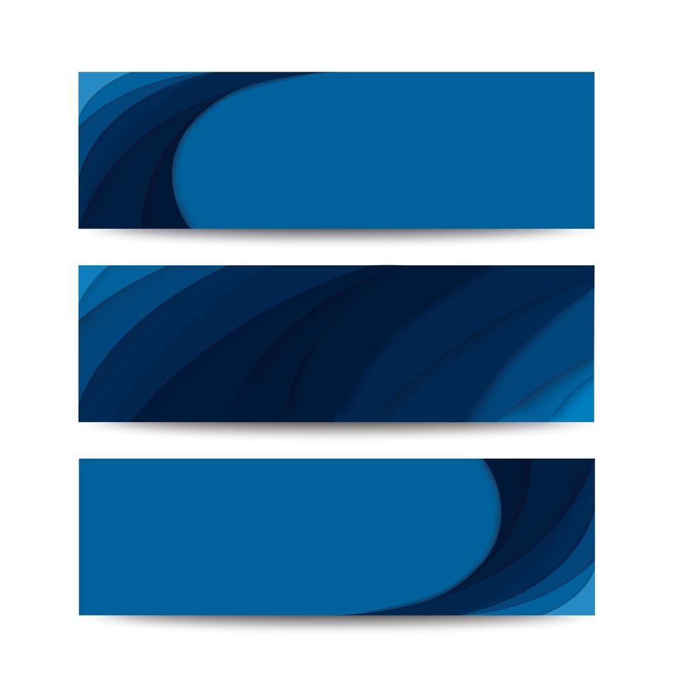 modelos de curva azul vetor