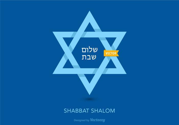 Shabbat Cartão Vector Shalom