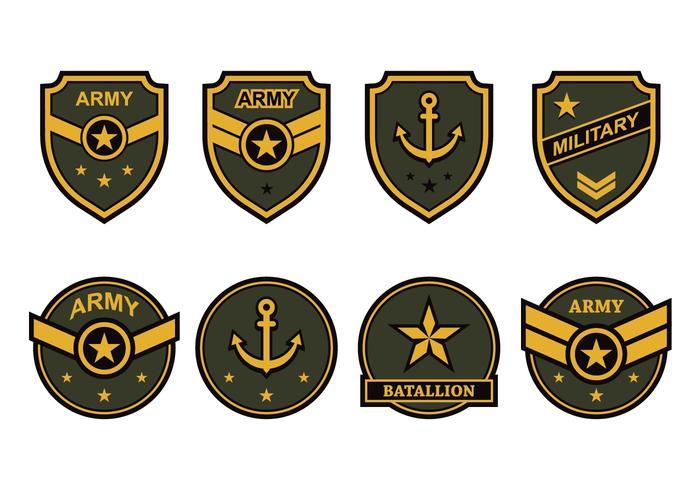 Free Vector emblema do exército
