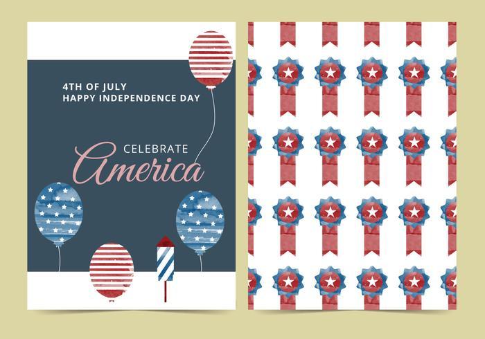 Vector quarto do cartão de julho