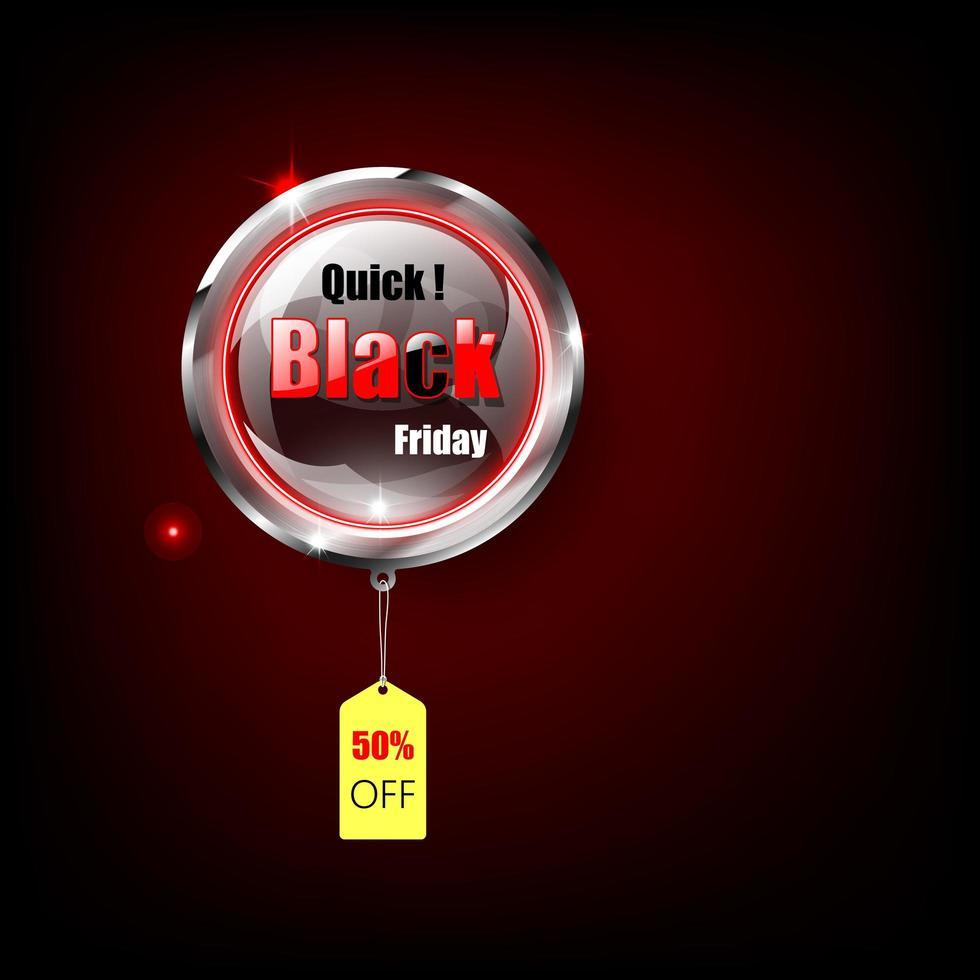banner gradiente preto sexta-feira vermelha para publicidade vetor