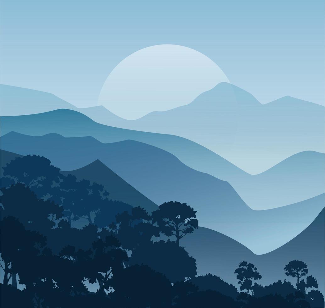 fundo de paisagem de montanha vetor