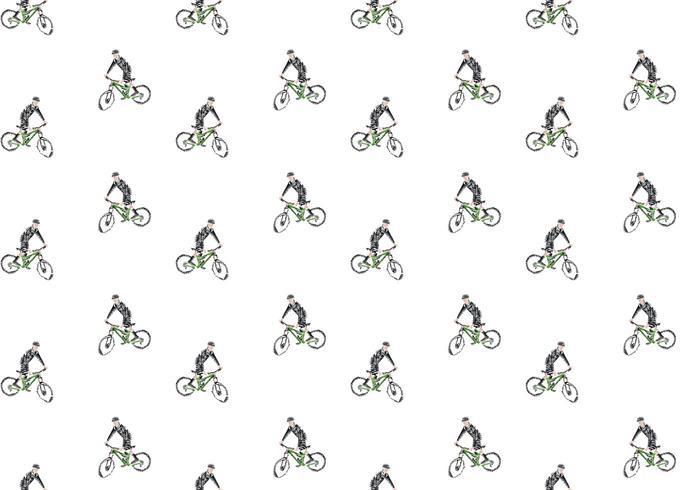 Livre Padrão Bicicleta Seamless Ilustração vetor