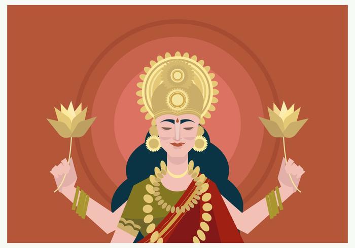 Potrait de Vector Goddes Lakshmi