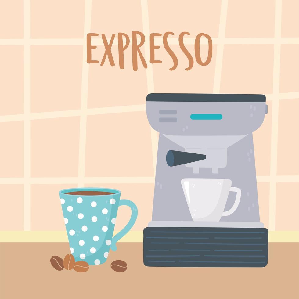métodos de preparação do café. poção turca e xícara vetor