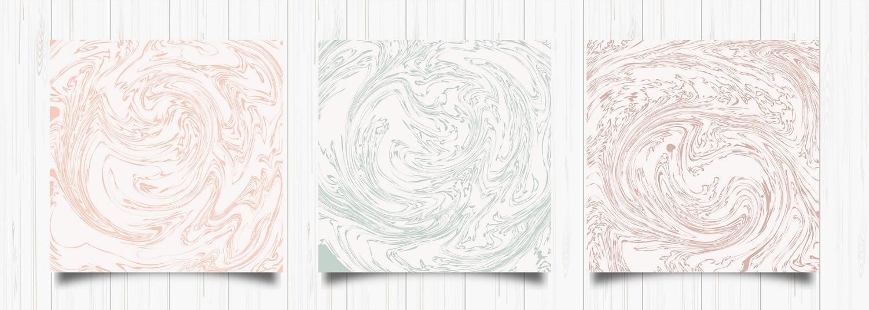 conjunto de cartas de mármore abstratas vetor