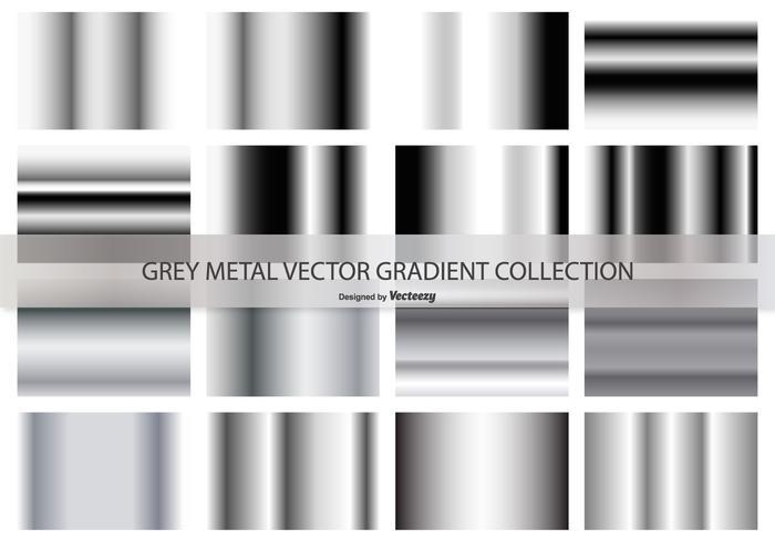 Grey Gradient Colecção Vector