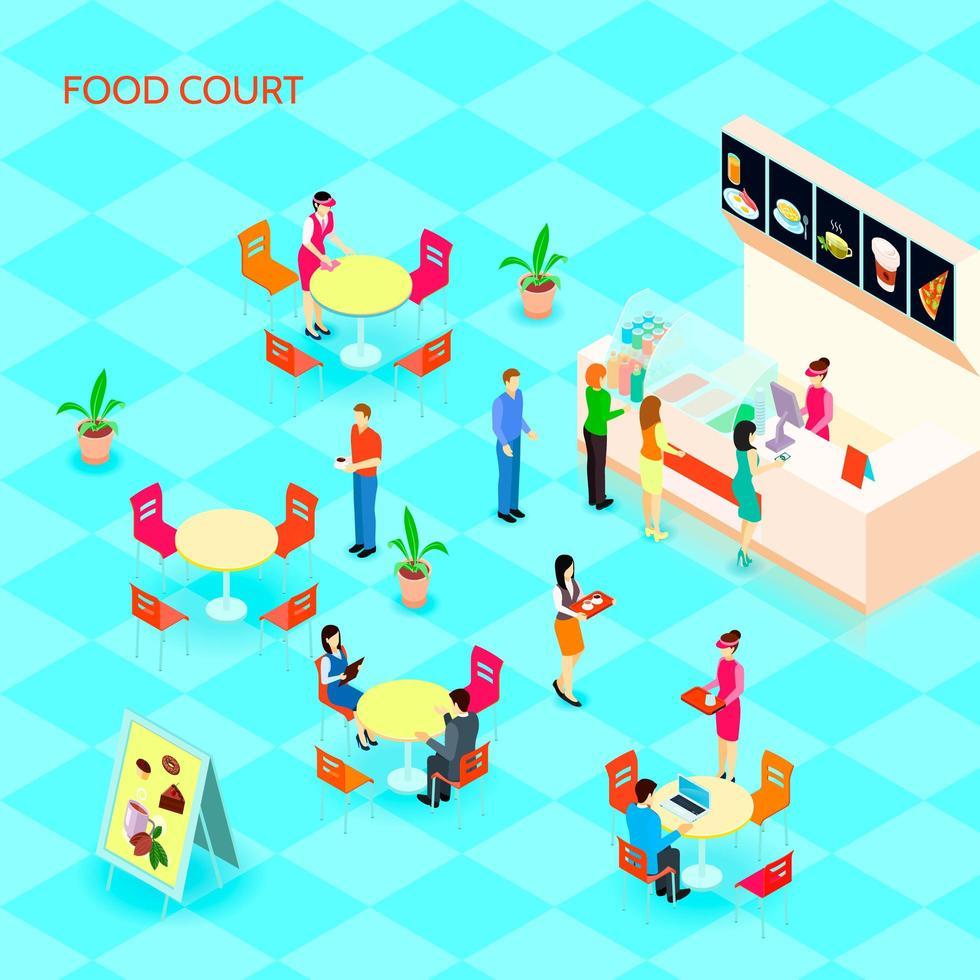 fast food isométrico vetor