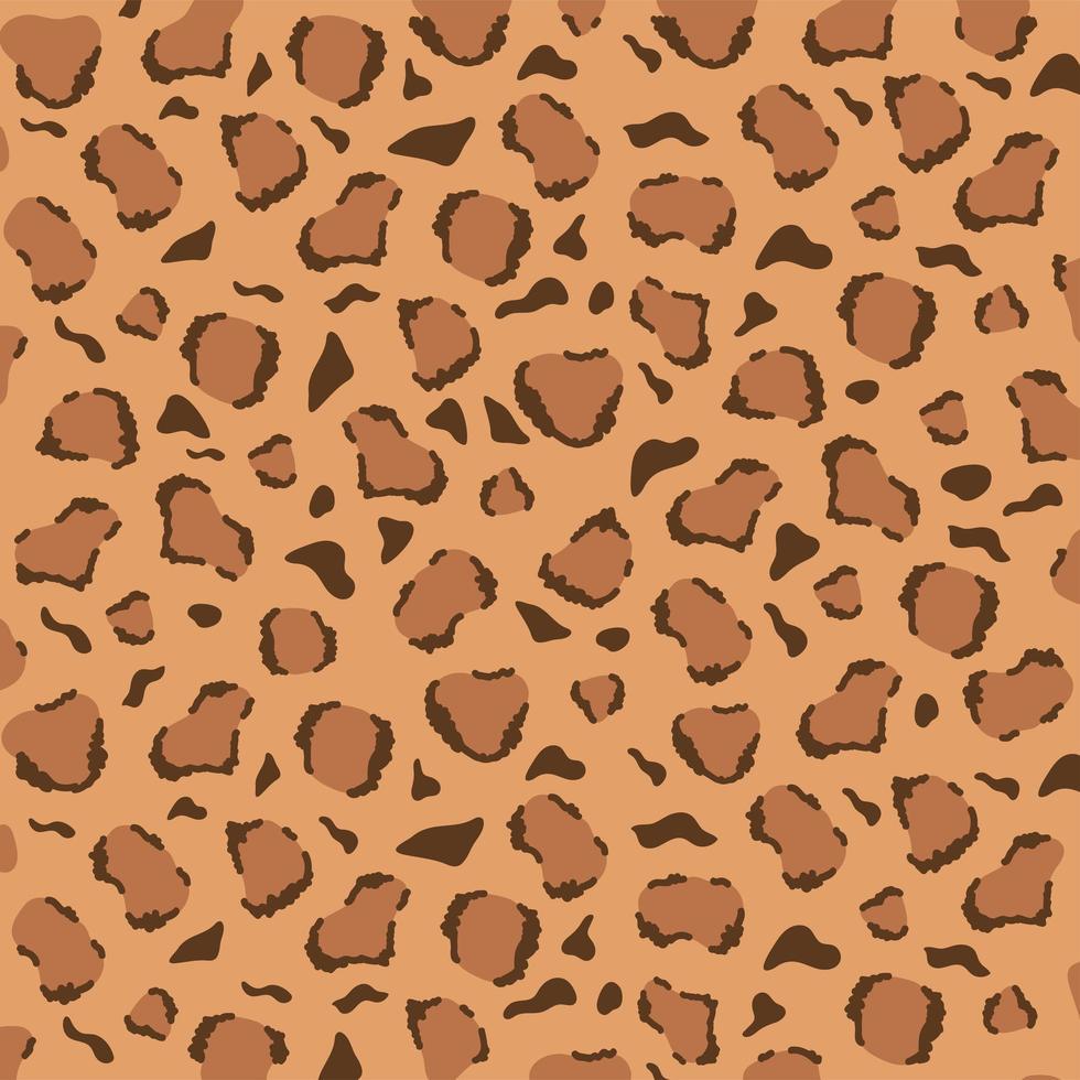 desenho de padrão de leopardo. textura de pele de animal da selva vetor