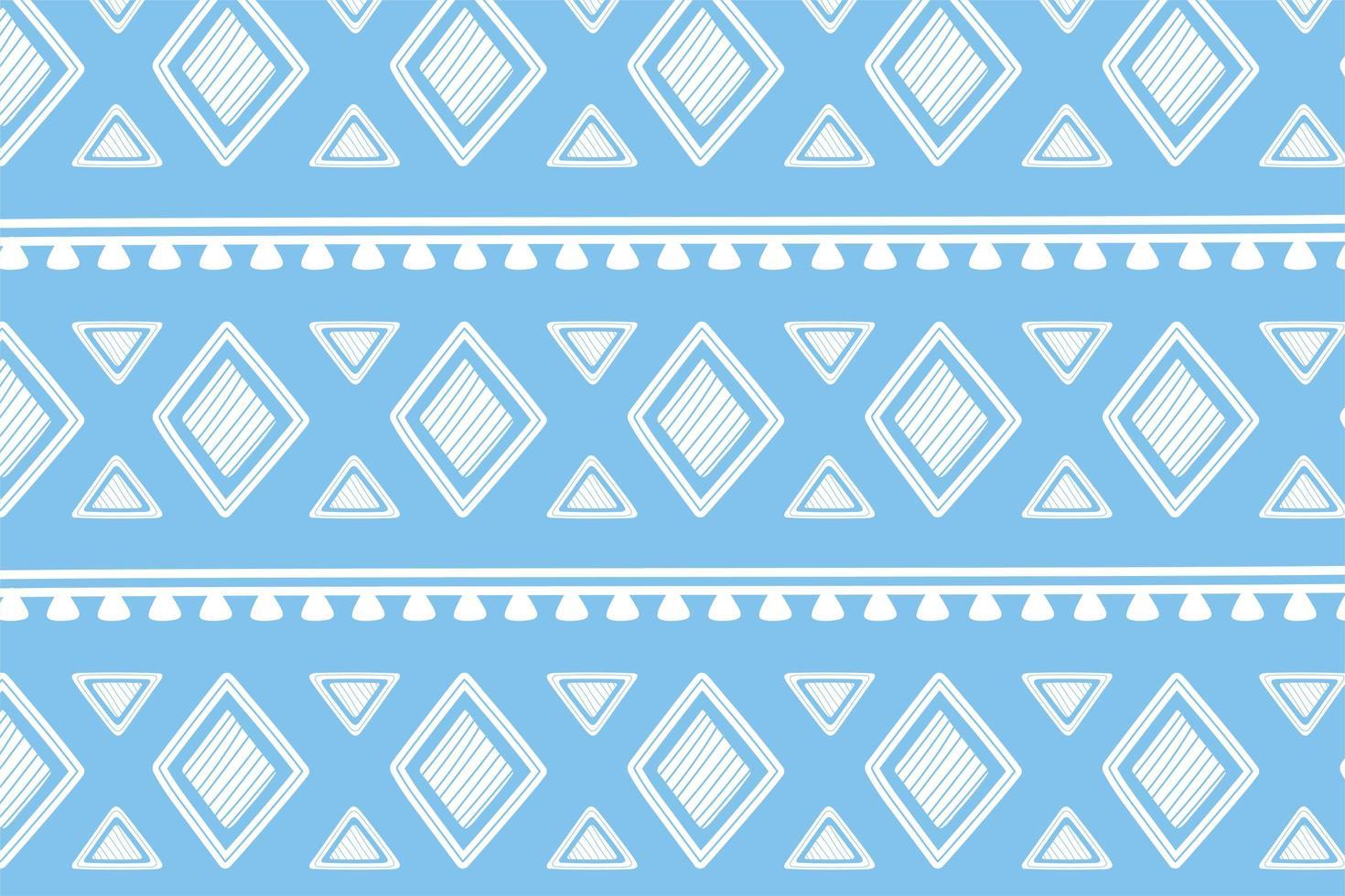 étnico feito à mão. papel de parede de ornamento tribal geométrico vetor