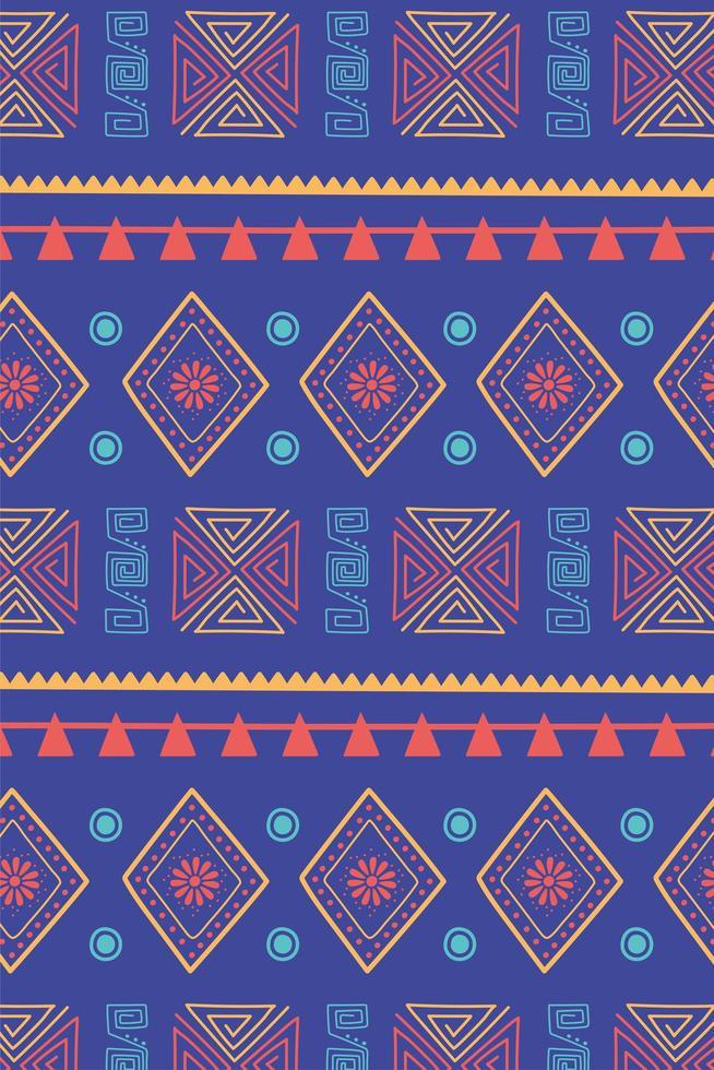 étnico feito à mão. fundo de decoração de textura de motivo tribal vetor