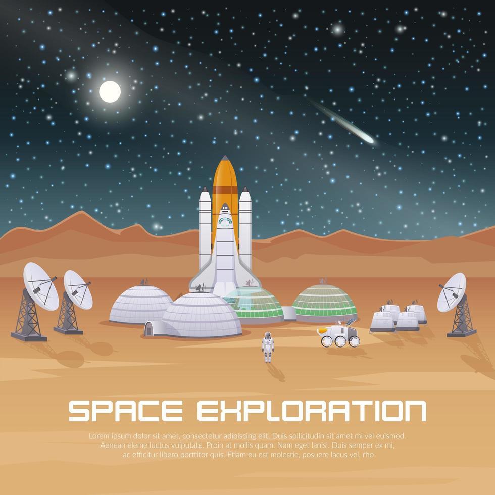 exploração espacial de astronautas vetor