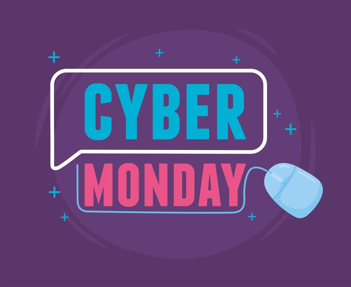 cyber segunda-feira. promoção virtual de marketing de venda vetor