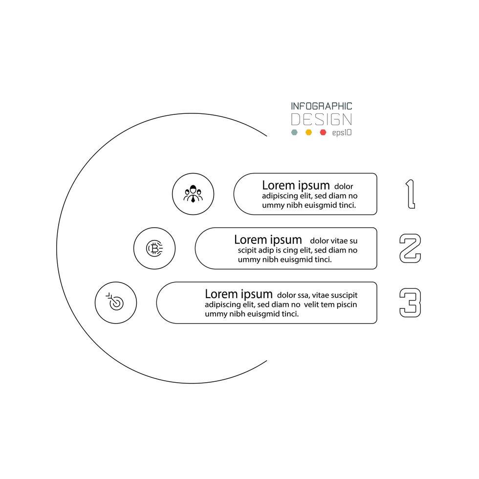 design de infográficos simples vetor