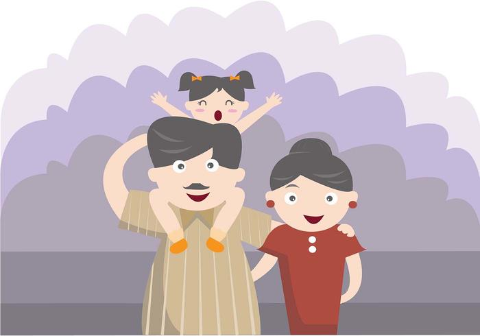 Vector Happy Família