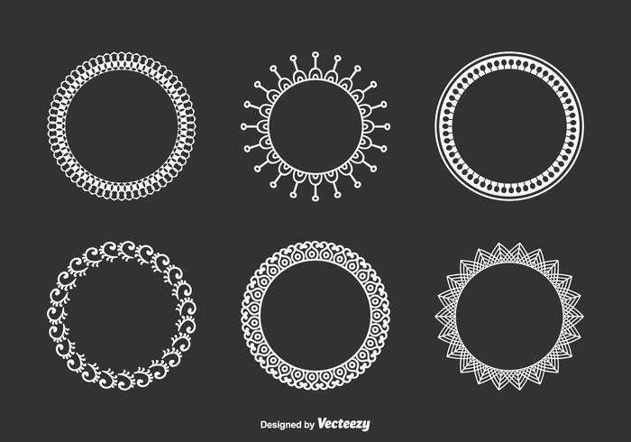 Decorativa Funky do Frames Vector Set