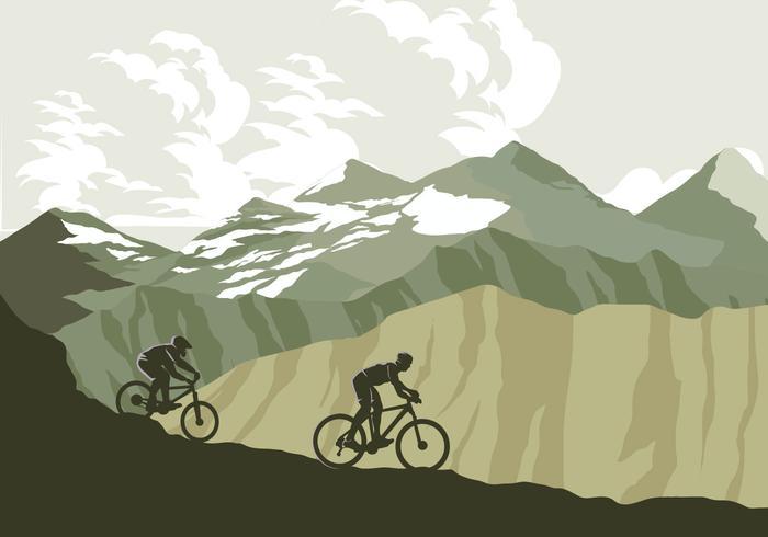Vetor de trilha de bicicleta de montanha