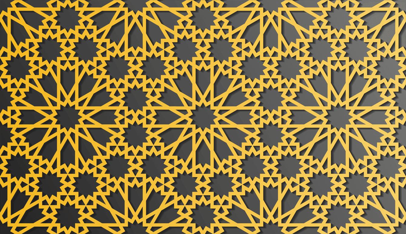 design de padrão islâmico tradicional vetor