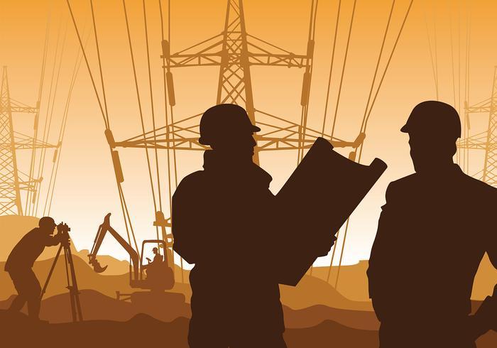 Surveyor Electricidade Vector grátis