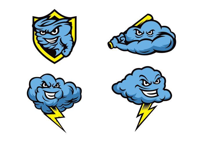 Vetor grátis da mascote das tempestades