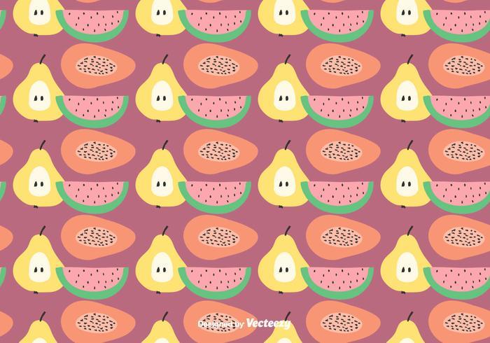 Plano Fruit Vector Pattern