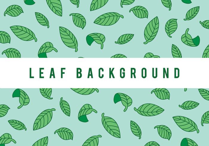 Folha Verde Vector Background