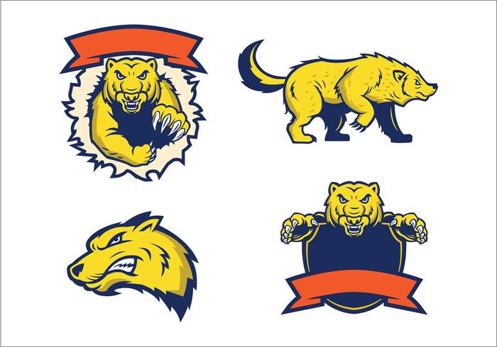Free Vector Wolverines Mascot