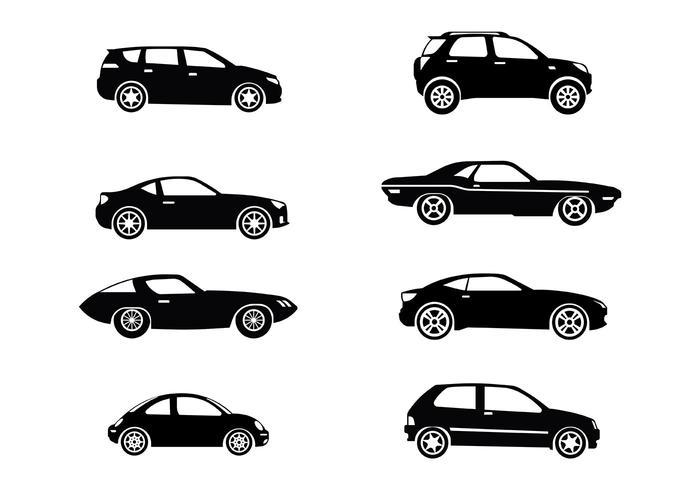 Vector silhueta Carros Icons