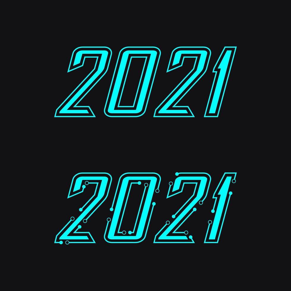 Ícone de ano novo de 2021 vetor