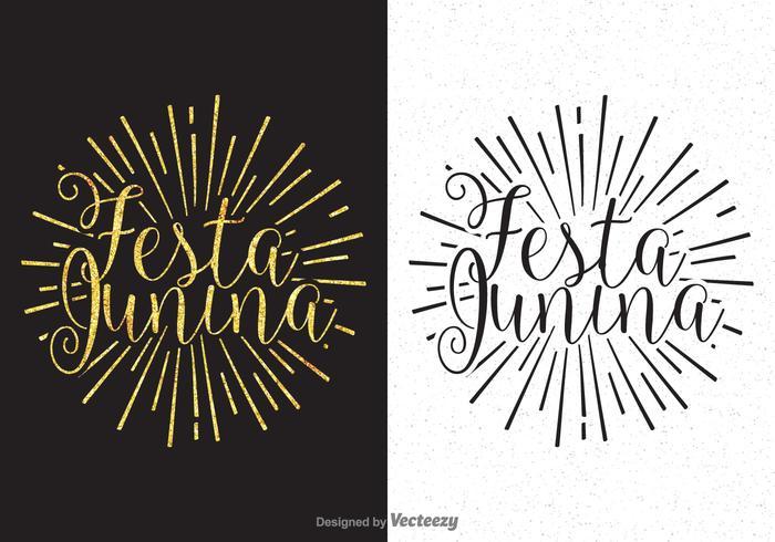 Vector Festa Junina da caligrafia Lettering