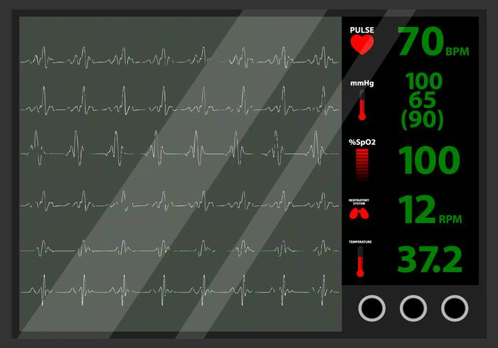 Monitor de batimento cardíaco vetor