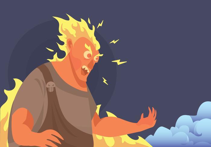 Vector irritado Hades