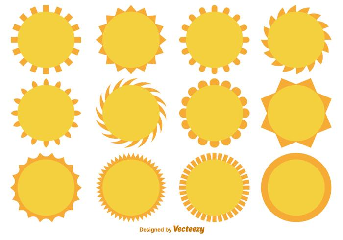 Vetor dos desenhos animados Plano Suns Colecção
