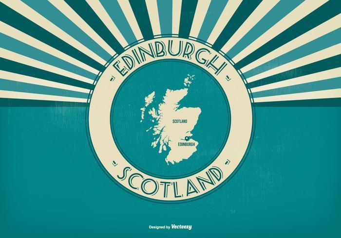 Edimburgo Escócia Retro Ilustração vetor
