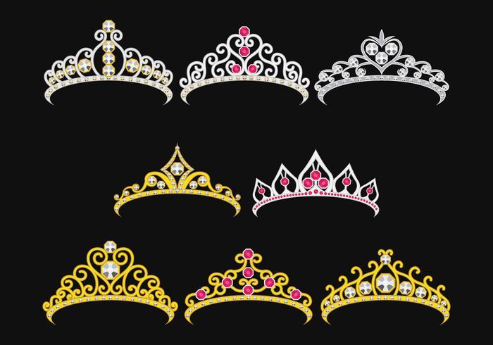 Conjunto de Princesa Crownn vetor