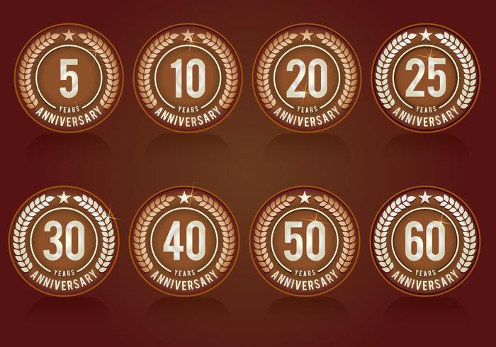 Anniversary Collection Símbolos vetor