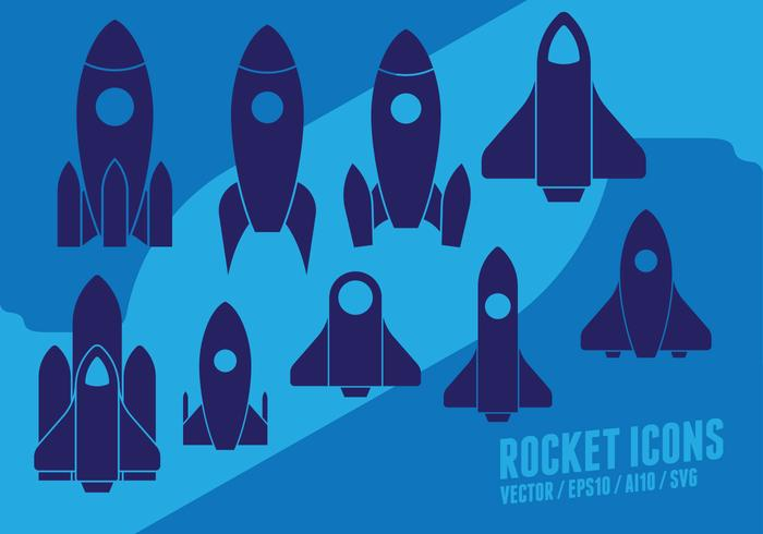 Set foguete vetor