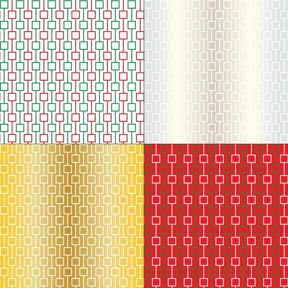 padrões geométricos abstratos de natal vetor