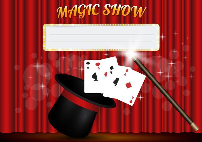Vector Template show de mágica