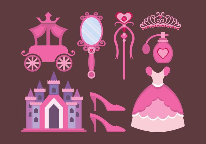 Princesa design elements vetor