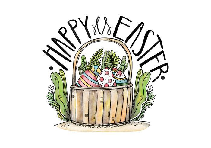 Fundo da cesta de Easter Vector