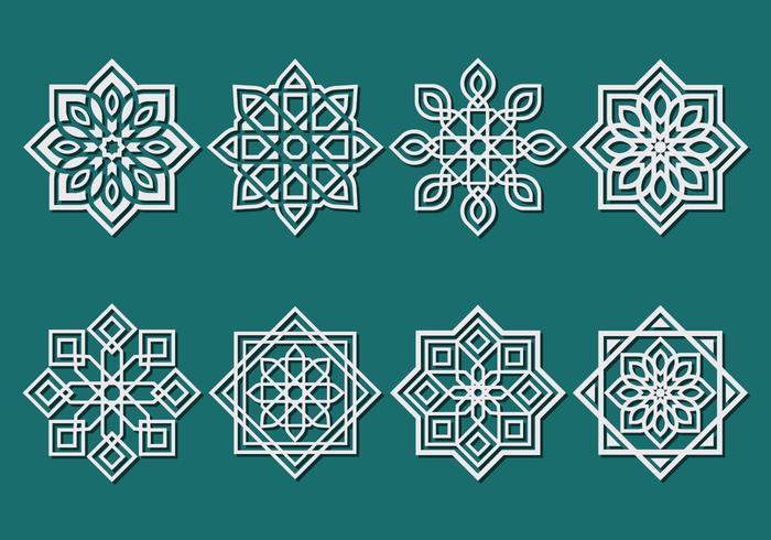 Vector ornamento islâmica