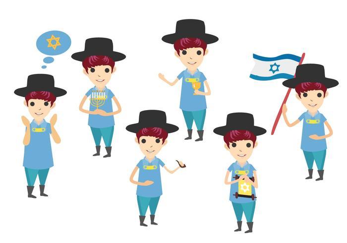 Vetores caráter judaico gratuitos