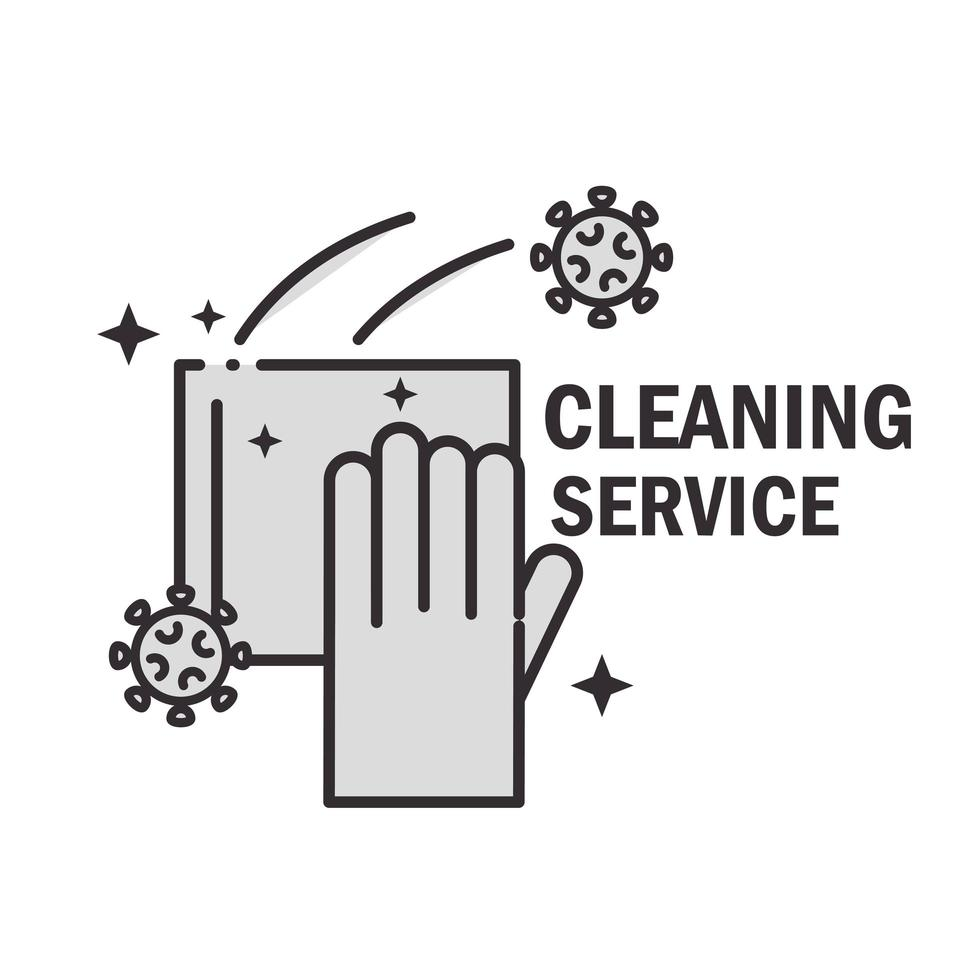 ícone de pictograma de serviço de limpeza vetor