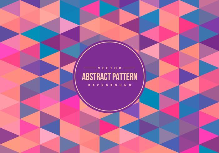 Fundo do teste padrão colorido abstrato Polygon vetor