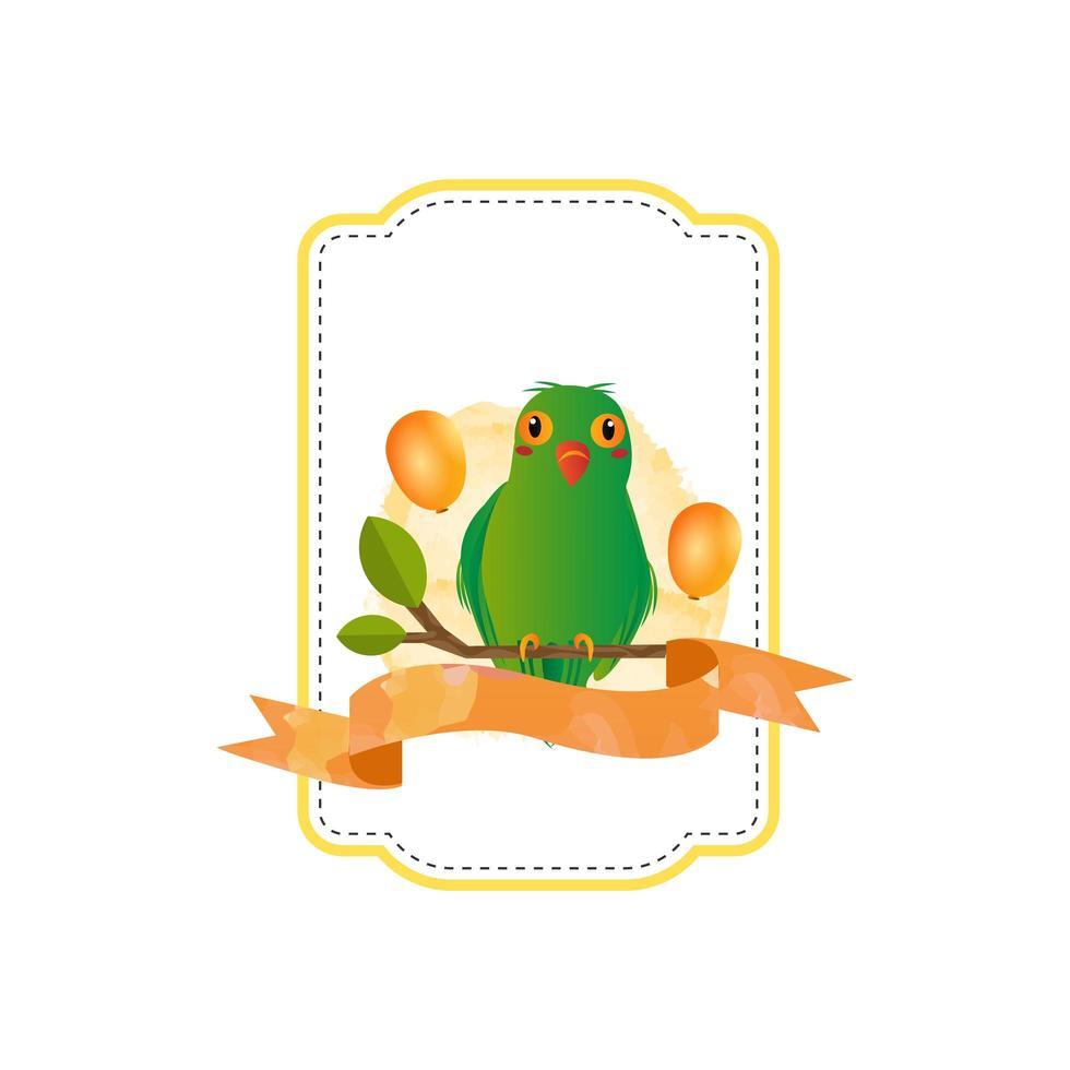 desenho de crachá de pássaro amor animal vetor