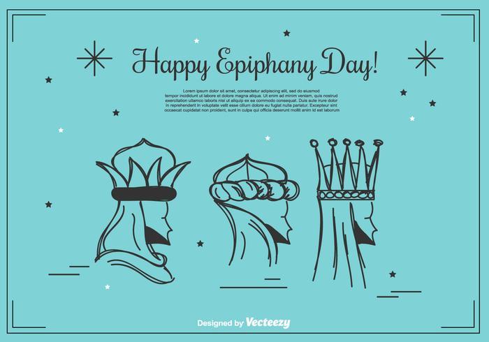 Fundo feliz do dia da Epifania vetor